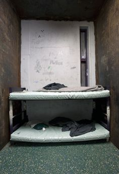 this is an actual room in a juvenile detention in Mississippi, U.S.A. windowless, reeking of Death...
