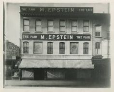 The first M. Epstein store on the Green in Morristown, NJ