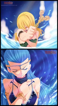 Lucy and Aquarius (Fairy Tail) to bad I can make the fairy tail hand sign on here.