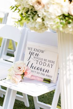 Wood Memorial Sign Wedding Heaven wasn& so far away is part of Wedding decorations We know you would be here today, if Heaven wasnt so far away This handmade wood sign is the perfect way to celeb - Wedding Ceremony Ideas, Wedding Tips, Diy Wedding, Wedding Events, Wedding Planning, Dream Wedding, Wedding Day, Wedding Hacks, Memorial At Wedding