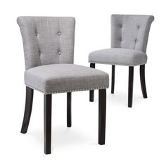 Threshold™ Scrollback with Nailhead Dining Chair - (Set of 2), on sale for $144.49