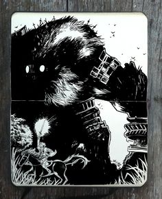 #328 Shadow of the Colossus by 365-DaysOfDoodles on DeviantArt