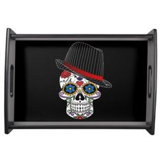 #skull #serving #tray #hipster #cool #horror #gothic #home #decor #fashion #halloween  http://www.zazzle.com/hipster_and_funny_skull_serving_tray-256602650151305200
