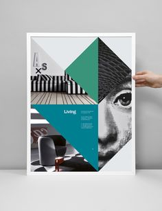 Inspiration of CAMP brochure / poster design - combo of Colourful shapes with Black&White / DeSaturated Photos