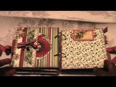 Bo Bunny Father Christmas mini album one on one swap with Sue (Create1602) - YouTube