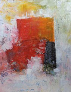 "Saatchi Art Artist Karin Aherne Jansen; Painting, ""abstract in red 12"" #art"