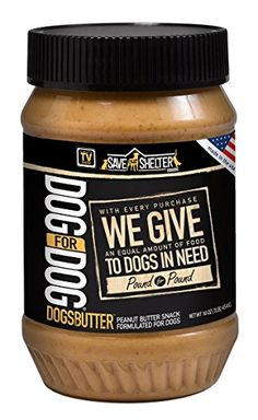 DOG for DOG Dogbutter Original Peanut Butter with Flaxseed for Dogs 16Ounce -- Click on the image for additional details.