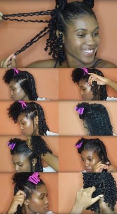 With kinky twist braids, you'll be able to obtain an elegant, fashionable and neat look. That is the coiffure that may make you stand out in a crowd. There are fabulous methods of styling your tw Twist Braid Hairstyles, My Hairstyle, Twist Braids, Girl Hairstyles, Curly Haircuts, Natural Twist Out Hairstyles, Natural Hair Twist Styles, Protective Styles For Natural Hair Short, Flat Twist Styles