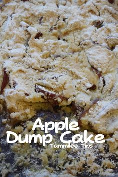 3 Ingredient recipe for super easy Apple Dump Cake Recipe! This recipe is easy to make and tastes amazing. Perfect for fall parties and dinners. Apple Dump Cakes, Dump Cake Recipes, Dessert Recipes, Apple Cake, Just Desserts, Delicious Desserts, Yummy Food, Fun Food, Pineapple Angel Food