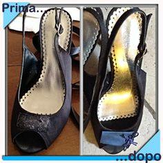 Cambio look alle scarpe con nodi cinesi e raso blu