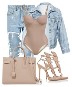 """""""Untitled by saintlauryn featuring Boohoo, Faustine Steinmetz, Giuseppe Zanotti and Yves Saint Laurent Komplette Outfits, Classy Outfits, Stylish Outfits, Fashion Outfits, Womens Fashion, Fashion Trends, Party Outfits, Boohoo Outfits, Spring Outfits"""
