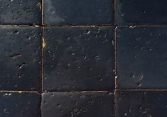 tomette émaillée 201101 noir Plus