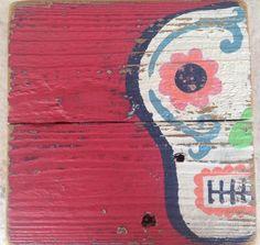 Arte azúcar cráneo recuperado piquete vallas por ACleverSpark