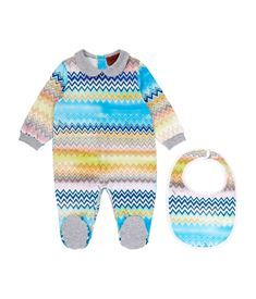 View the Zig Zag Footie and Bib Gift Set