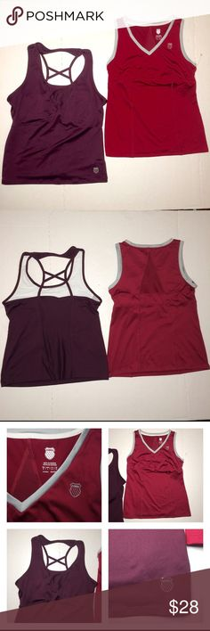 Women's Kswiss Workout Gym Tank Tops Medium Lot New without tags super cute size medium kswiss Tops Tank Tops