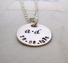 Wedding Date Celebration Sterling Silver Necklace by billetsdoux, $40.00