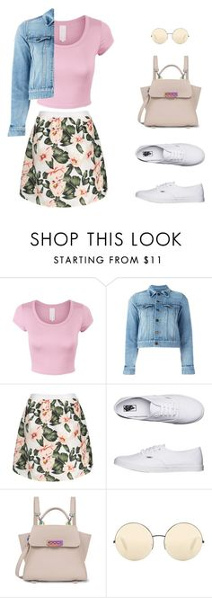 """Untitled #707"" by ichanee on Polyvore featuring Yves Saint Laurent, Vans, ZAC Zac Posen and Victoria Beckham"
