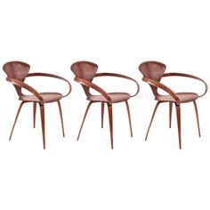 three original norman cherner for plycraft pretzel armchairs 1stdibscom