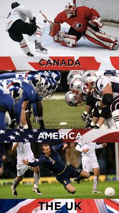 Favorite sport: | 19 Things America, Canada, And The U.K. Cannot Agree On
