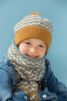 Line & Linus lue, hals & votter Knitted Hats, Beanie, Knitting, Fashion, Threading, Moda, Tricot, Fashion Styles, Breien