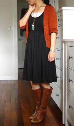 Orange sweater - cute for fall