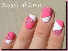 Raggio di Luna Nails: pink & white  #nail #nails #nailsart