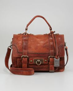 Cameron Small Satchel Bag, Cognac by Frye at Neiman Marcus.