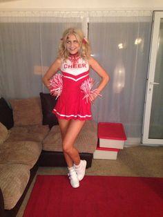 Creepy zombie cheerleader knee high socks special effects makeup ...