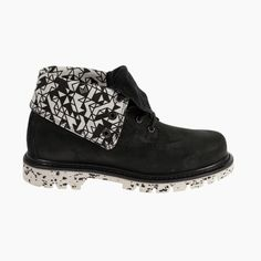 #CatFootwear Women's Roll Down Walala boot in Black, $120 #SS15