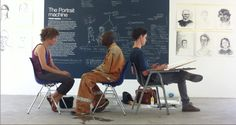 the portrait machine: Vulindlela Nyoni, Ian Grose, Ann and Yusuf