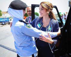 ♔♛Queen Rania of Jordan♔♛...Queen Rania visited Urban Development Charitable Society