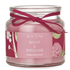 Berry And Rhubarb Candle Jar