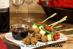 Cheesy Sun-dried Tomato Meatball Poppers