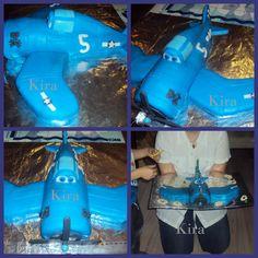 14. Skipper cake from Planes. Ask me for instructional photos :-)  Dort Skipper z filmu Letadla, na přání mohu poslat fotopostup :-)  K pátým narozeninám M. 2015