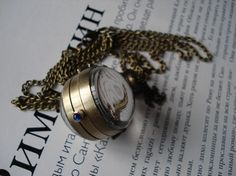 10% OFF Golden color ball necklace pocket watch pendant, $8.49