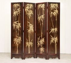 Premium quallity Folding Screen, Gold Bamboo for sale. Made with traditional craftsmanship. Bamboo For Sale, Ikea Furniture, Craft Business, High Resolution Photos, Chinoiserie, See Photo, Screens, Oriental, Divider