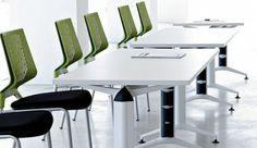 Trama. Movilidad y versatilidad se combinan para aportar ingeniosas soluciones para espacios de trabajo.