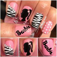 barbie #nail #nails #nailart