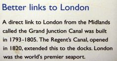 Canals Provided Better Links to London.                  canalmuseum.org.uk        ©SuziLove