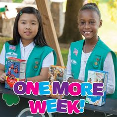 ONE MORE WEEK until the 2020 Girl Scout Cookie Program! We can't wait to watch you accomplish your goals and build your business savvy, Girl Scouts!