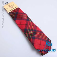 Pure wool tie in Leslie Modern tartan - available from ScotClans