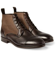 Paul Smith Shoes & AccessoriesJulius Canvas and Leather Boots|MR PORTER