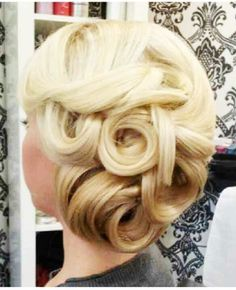 Love this swirly vintage updo