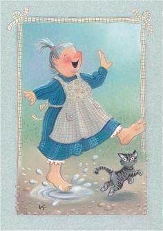 My collection. Kaarina Toivanen - Юлия К - Picasa Web Albums People Illustration, Illustrations, Illustration Art, Funny Drawings, Art Drawings, Cool Paintings, Vintage Cards, Cute Art, Street Art