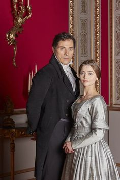Rufus Sewell and Jenna Coleman as Lord Melbourne and Queen Victoria. He gets sexier the older he gets. Victoria Jenna Coleman, Victoria Pbs, Victoria Tv Show, Victoria 2016, Victoria Series, Victoria Prince, Reine Victoria, Victoria And Albert, Queen Victoria