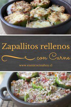 Los zapallos italianos rellenos con arroz y carne son una de las comidas más clásicas en Chile, una comida completa y deliciosa, que te encantará.