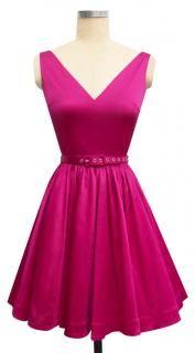 Trashy Diva Ballerina Dress - FINAL SALE cg-dball1-magentasatin $61