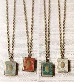 Love Story Locket Necklace by Gleeful Peacock on Scoutmob Shoppe
