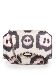 #Givenchy mini jaguar-print leather cross-body bag