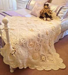 "Love this crocheted ""Krista"" Throw."